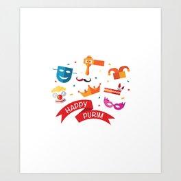 Happy National Purim Day Art Print