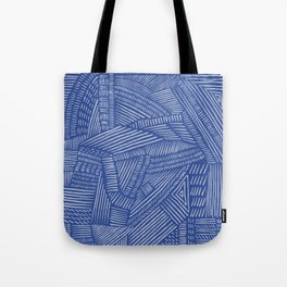 Mud Cloth / Blue Tote Bag