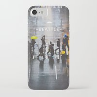 seattle iPhone & iPod Cases featuring Seattle by Bronson Snelling