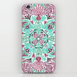 Vibrant floral mandala iPhone Skin