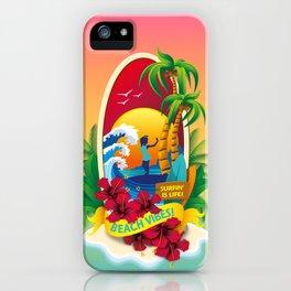 Aloha Beach Vibes II iPhone Case