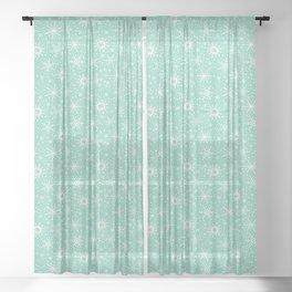 Snowflakes Sheer Curtain