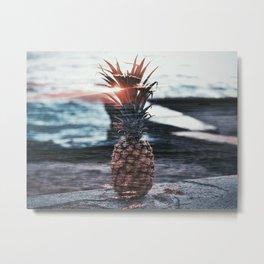 Pineapple Meets Sunset Metal Print