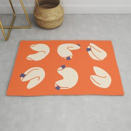 Fortune Cookies in Red and Blue Rug