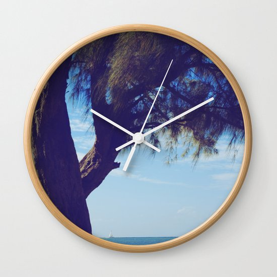 Fisherman in the distance, Mauritius Wall Clock