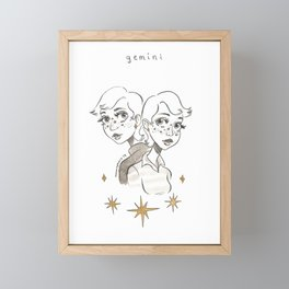 Gemini Framed Mini Art Print
