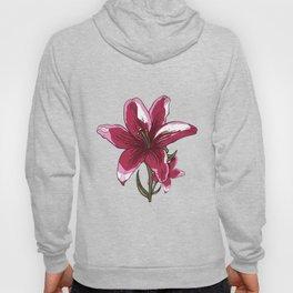 Lily Flower Illustration Hoody