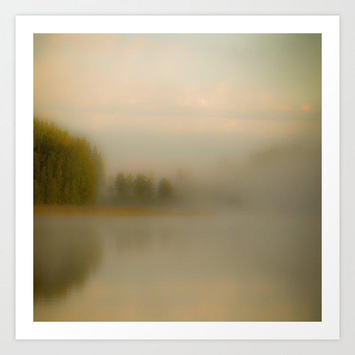 Misty Autumn Morning #decor #buyart #society6 Art Print