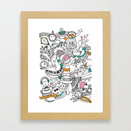 My Happy Doodle Framed Art Print