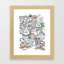 My Happy Doodle Framed Art Print