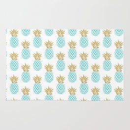 Elegant faux gold pineapple pattern Rug