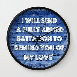 You'll Be Back Wall Clock