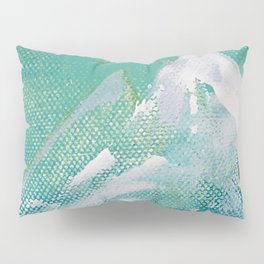 Canvas Peaks - an abstract, textured artwork by Jacob von Sternberg Pillow Sham