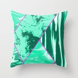 Mixed Marble Stone - Visual Decorative Graphic Design V.1 Throw Pillow