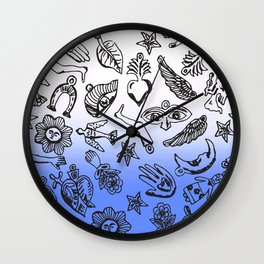 Milagros Dip Dye Blue Wall Clock