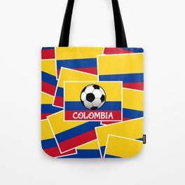 Colombia Football Tote Bag