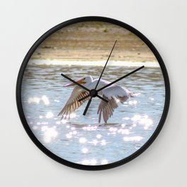 Skimming The Water Wall Clock