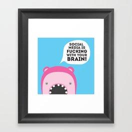 Brain fucking Framed Art Print