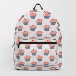 Fluffy Pink Cupcake Pattern Backpack