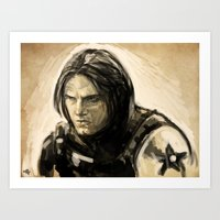bucky barnes Art Prints featuring Barnes by rnlaing