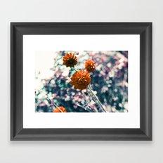 an angel's kiss in spring Framed Art Print
