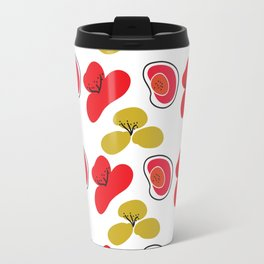 Digital Art Graphic Pattern Poppies Travel Mug