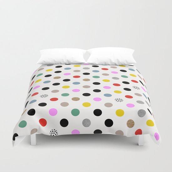 Coloured Dot Duvet Cover