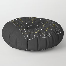 The Star - Tarot Illustration Floor Pillow