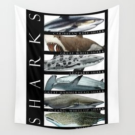 Sharks of the World Wall Tapestry