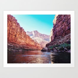 Floating the Colorado River Art Print