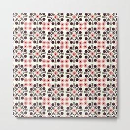 Gem Tiles Coral Metal Print