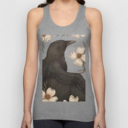 The Crow and Dogwoods Unisex Tanktop