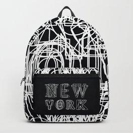New York black and white Backpack
