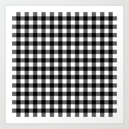 Black And White Plaid Design Art Print