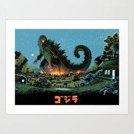 Godzilla - Blue Edition Art Print