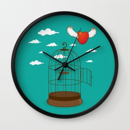 Free heart Wall Clock
