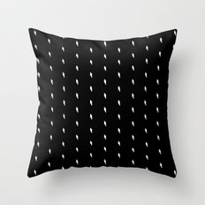 lightning bold pattern black Throw Pillow