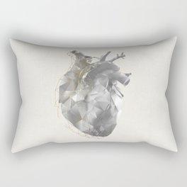 golden polygon heart Rectangular Pillow