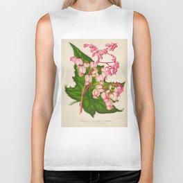 Begonia Verschaffeltii Vintage Botanical Floral Flower Plant Scientific Illustration Biker Tank