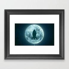 Moon Awakes Framed Art Print