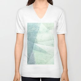 Frozen Geometry - Teal & Turquoise Unisex V-Neck