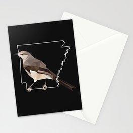Arkansas – Northern Mockingbird (Black) Stationery Cards