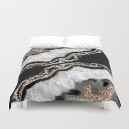 Yin Yang Agate Glitter Glam #8 #gem #decor #art #society6 Duvet Cover