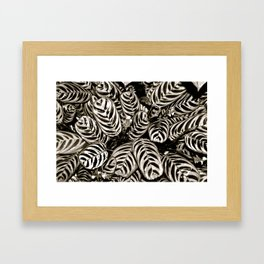 Foliar Framed Art Print