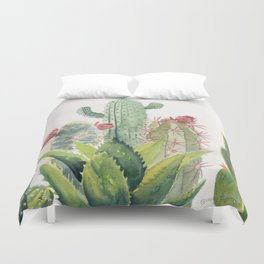 Cactus Watercolor Duvet Cover