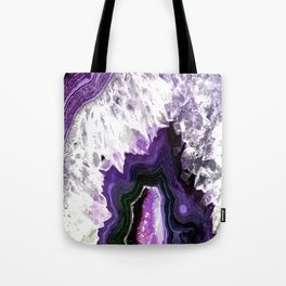 Ultra Violet Agate Illustration Tote Bag