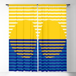 Yellow Split Sun Blackout Curtain