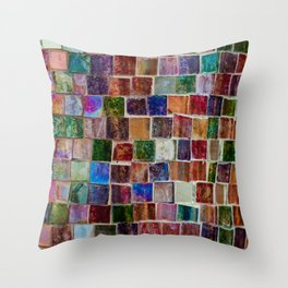 Glass tiles Throw Pillow
