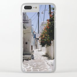 Aegean Streets Clear iPhone Case