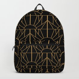 Gold and Black Art Deco Pattern Backpack